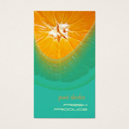 Fresh Orange Produce Business Cards