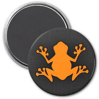 Orange Frog 3 Inch Round Magnet
