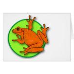 Orange Frog Blank Horizontal Card