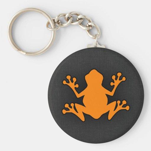 Orange Frog Key Chain