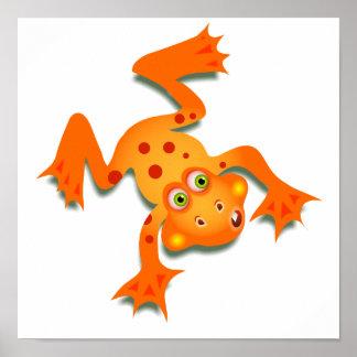 Orange Frog Poster