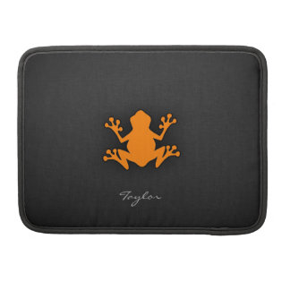 Orange Frog Sleeve For MacBooks
