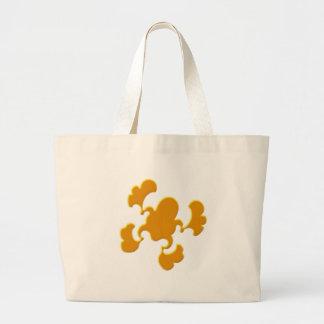 Orange Froggy Design Large Tote Bag