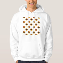Orange Frosted Spider Halloween Cookie Pattern Hoodie