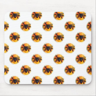 Orange Frosted Spider Halloween Cookie Pattern Mouse Pad