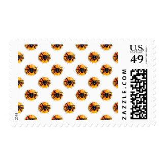 Orange Frosted Spider Halloween Cookie Pattern Stamp
