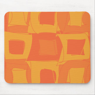 Orange Fruit Abstract Original Design Pattern Mouse Pad