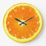 Orange fruit Clock with numbers