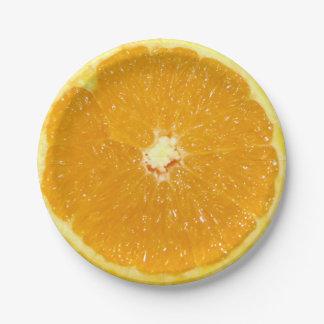 Orange Fruit Fresh Slice - Paper Plate