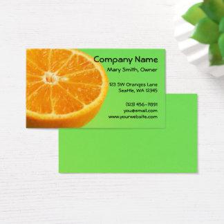 Orange Fruit Half Slice Business Card