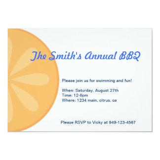 Orange Fruit Invite