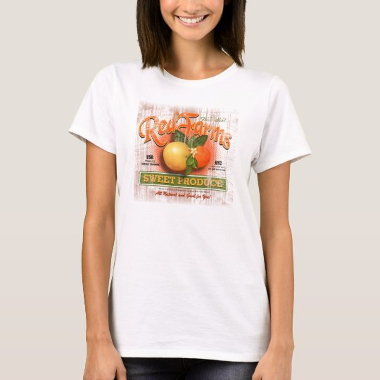 Orange Fruit Label T-Shirt