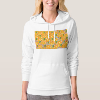 Orange Fruit on Colors Chevrons and Blue Hoodie
