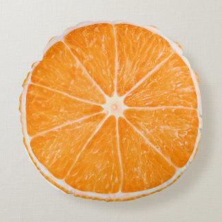 Orange Fruit Slice Cute Round Pillow
