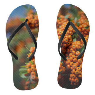 Orange Fruits Flip Flops