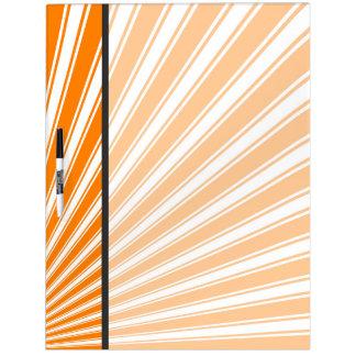 Orange Funky Sun Rays Background Dry-Erase Board