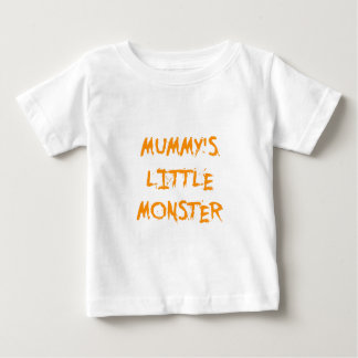 Orange Funny Mummy's Little Monster Halloween T Shirt