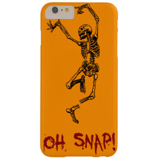 Orange Funny Skeleton Broken Leg Oh Snap Barely There iPhone 6 Plus Case