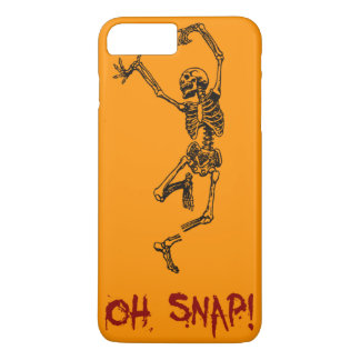 Orange Funny Skeleton Broken Leg Oh Snap iPhone 7 Plus Case