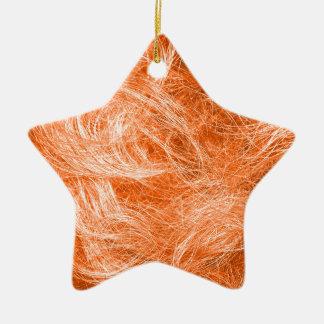 Orange Fur Ceramic Ornament