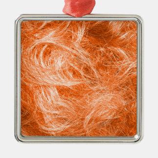 Orange Fur Metal Ornament