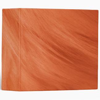 "Orange Fur Print Avery 2"" Binder"