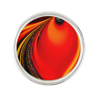 Orange Fury Fractal Pin
