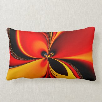 Orange Fury Pillow