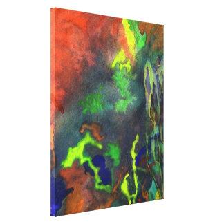 Orange Fusion 2 Fine Art Canvas Print