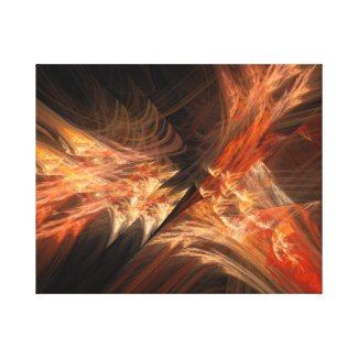 Orange Fusion Wrapped Canvas Print