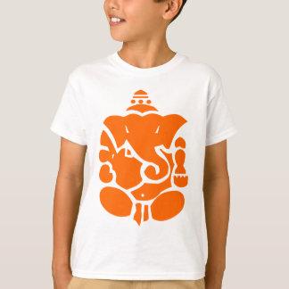 Orange Ganesha Illustration T-Shirt