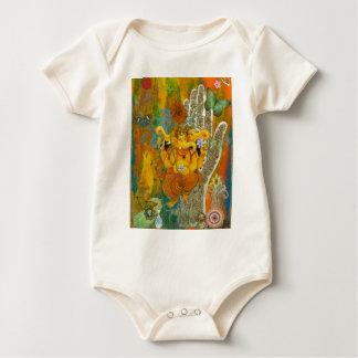 Orange Ganesha Baby Bodysuit
