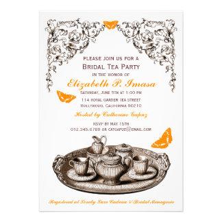 Orange Garden Bridal Tea Party Invitations