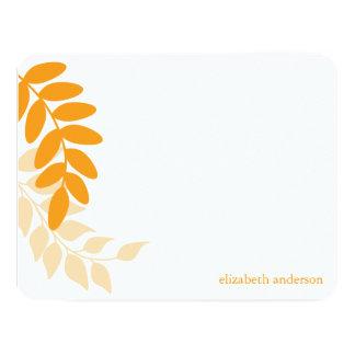 Orange Garden Leaves Card