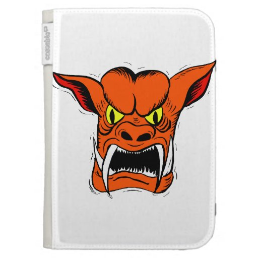 orange gargoyyle creature case for the kindle