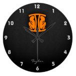 Orange Gemini Clocks