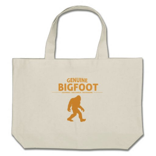 Orange Genuine Bigfoot Tote Bags