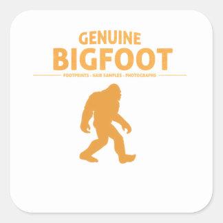 Orange Genuine Bigfoot Square Sticker