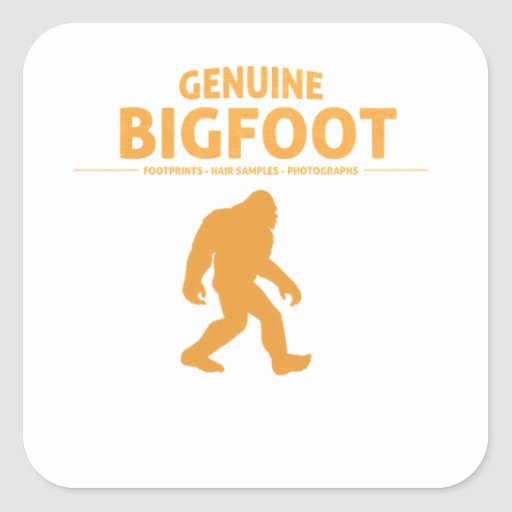 Orange Genuine Bigfoot Square Stickers
