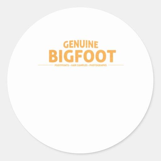 Orange Genuine Bigfoot Round Sticker