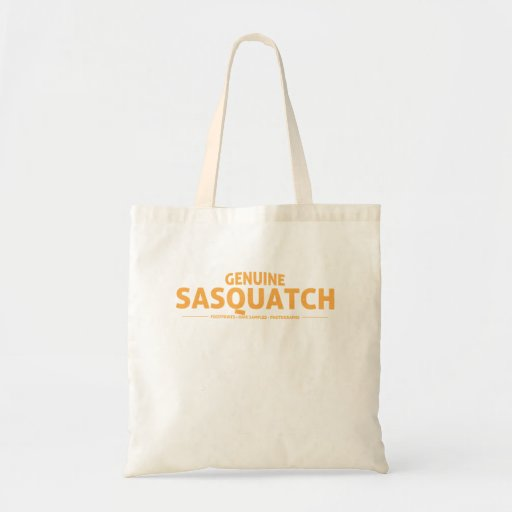 Orange Genuine Sasquatch Tote Bags