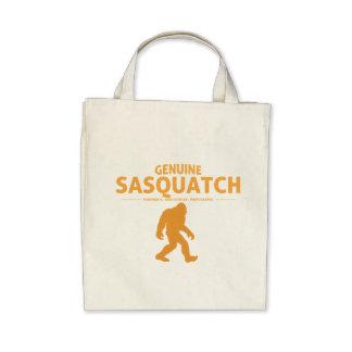 Orange Genuine Sasquatch Canvas Bags