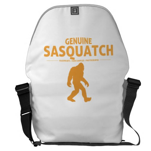 Orange Genuine Sasquatch Messenger Bags