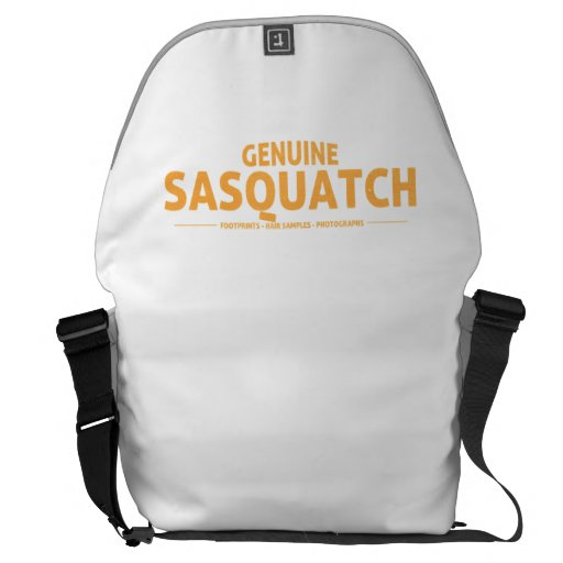 Orange Genuine Sasquatch Courier Bag