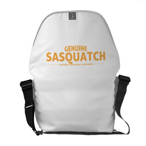 Orange Genuine Sasquatch Courier Bags
