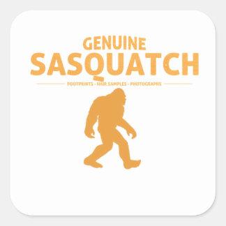 Orange Genuine Sasquatch Square Sticker