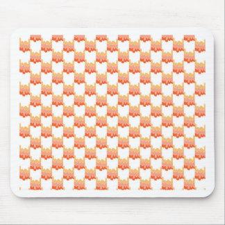 Orange Geo Ripple Mouse Pad