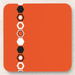 Orange Geometric Abstract Art Design Drink Coasters