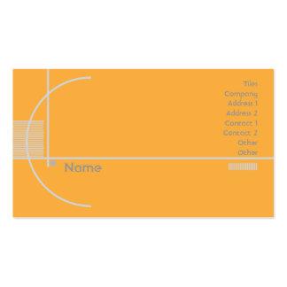 Orange Geometric - Business Business Card Templates