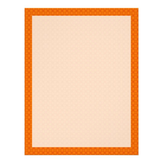 Orange Geometric Flower Letterhead